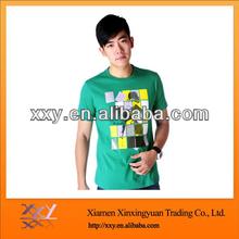Top Organic Shirt Mens Green Tee Shirt Causal Tee Wholesale