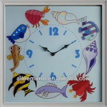 2013 top selling square shape clock diy wall clock wall clock year month day date