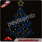 Hot Fix Christmas Tree Rhinestone Motif Iron ons for Festival Party