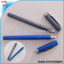 2013 fancy design frosting blue grey cap gel ink pen