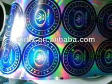 2012 3d sticker hologram gold color