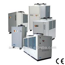 Copper tubes-aluminum fin coil heat exchanger air cooled power saver water chiller colling system