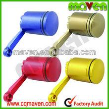 Quality Maven Universal Cylinder Billet Brake Fluid Oil Reservoir for Honda Yamaha Kawasaki Universal Motorcycles