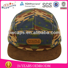 Fashion custom five leisure panel camper hat solar panel hat