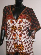 Indianos étnicos de cetim impresso tecidos ponchos, kaftans túnicas tecidos para túnicas, kaftans ponchos& poliéster polygeorget multiuso