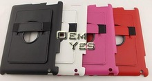 New arrival, 360 Degree Rotating Shell Hand-held Leather Case Stand Smart Cover For iPad 5