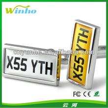 Personalised Car Number Plate Cufflinks