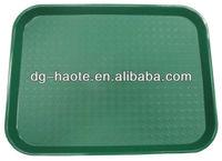 Plastic anti-slip serving tray HT-004-green