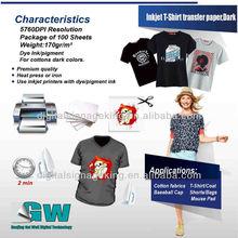 inkjet t-shirt transfer paper/T-Shirt Transfer Photo Paper