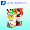 Stand up soup packaging bags with zipper/plastic bag