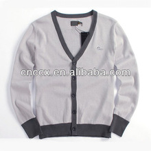 13STC5861 top selling men's printed cotton button-down cardigan sweater