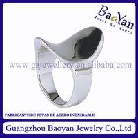 de nuevo modelo de anillo plata de acero inoxidable de forma asiento, de moda 2013 y 2014