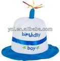 Bolo de aniversário do bebê chapéu do carnaval cabeça do partido decoração