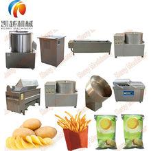 semi automatic 30Kg/h potato french fries making machines