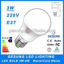 container home led light bulb E27 3W LED bulb lamp