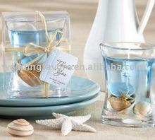 Sea Shell Gel Candle Wedding Favors