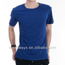 Unisex custom printing combed cotton s to xxxl blue t shirt ow