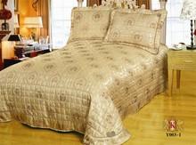 3pcs satin / microfiber patchwork quilted satin bedspreads