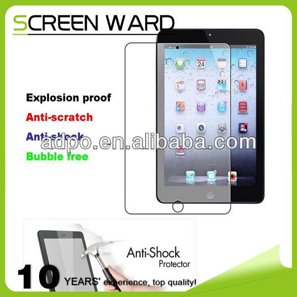 Bubble free Anti Scratch Anti Shock Explosion Proof Screen Protector ipad mini