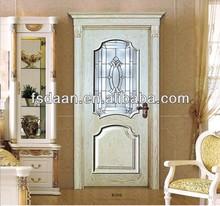 Classic wooden glass door design /glass insert wood frame