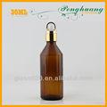 5 ml 15 ml 20 ml 30 ml aceite esencial de color ámbar estilo europeo botella de vidrio con goma gotero