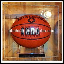 New Cast Sheet Made High Transparent basketball display stand/basketball display rack/acrylic basketball display case