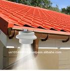 Abco Tech - Outdoor Solar Gutter LED Lights - White Sun Power Smart LED Solar Gutter Night Utility
