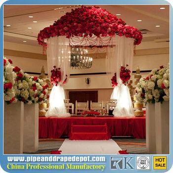 2013 New indian wedding mandap designs with drapery