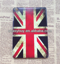 Retro flag design for ipad mini brushed phone case