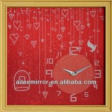 2013 popular wooden mechanical clock wall clocks display unique design wall clock