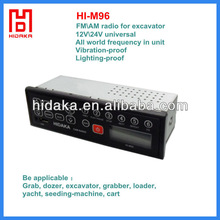 12V-24V waterproof hot selling radio for machine (excavator , truck , kart, tractor , loader,grader,earth moving machine)