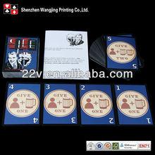 custom clear take 2 card game printing