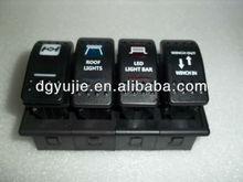 4 Gang panel mounting rocker switch panel \flush mount panel board