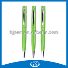 Shiny Colored Metal Pen,Twist Pen Green Ballpoint Pen for Promotional