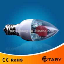 cheap LED candle bulb C25~CE RoHS~LED candle lamp clear/frostd/milky 0.3 w ~1w E12 E14 led candle light 0.5 USD Sales