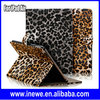 For iPad 5 Fashion Wallet PU Leather Case with Leopard Patterns