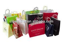 Custom Made High Quality paper bag christmas ornaments