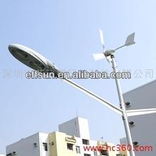 20 W 30 W 40 W 50 W 60 W 80 W 120 W turbina de viento y Solar híbrido LED calle lámpara del camino
