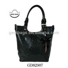 Chic Crocodile leather popular Retro Satchel tote bags for ladies hot selling women handbags