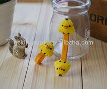 2012 Cute duck MP3 MP4 earphone headphone bobbin winder/cable holders/cord clip/wire twister