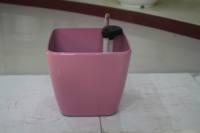 Pink Square plastic flower pot plant nursery. garden furniture . plant nursery . plant pot