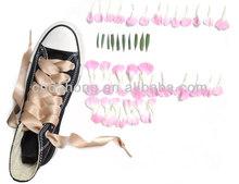 high quality fashion design Sweet satin ribbon shoelaces