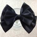 1-509 fatti a mano capelli grosgrain arco cravatta collare bowknot cane nero
