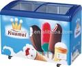 328l novo produto de vidro curvo congelador porta