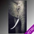 Pinturas al óleo de los elefantes, de alta calidad de la mano de puro- pintado de decoración de la pared moderna pinturas abstractas, de animales africanos tema caliente de imagen