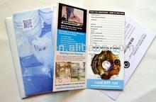 mini cd, mini dvd in folder as a postcard for mail marketing