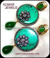 Green Turquoise Earring