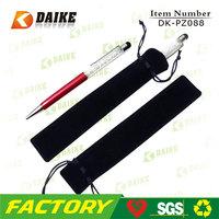 High Quality small gift drawstring velvet pen bag DK-PZ088