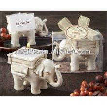 "Wedding gift party favor""Lucky Elephant"" Tea Light Candle Holder"