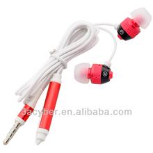 3.5mm Stereo In-ear Red Headset Earphones Earbuds Handsfree